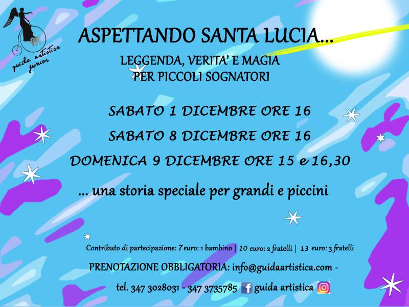 Aspettando Santa Lucia…. leggenda, verità e magia per piccoli sognatori.